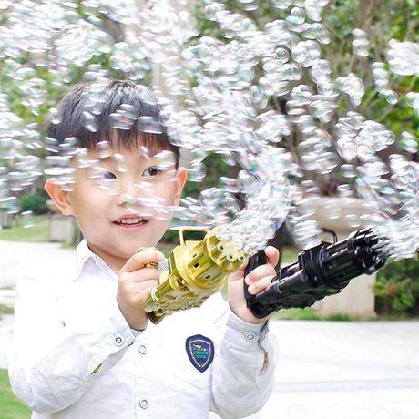 ОПТ! Электрический игрушечный пулемет для создания мыльных пузырей