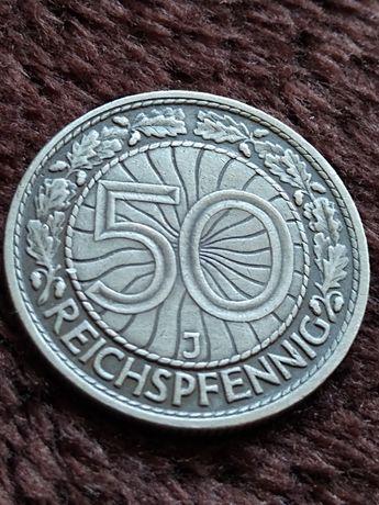 50 reichspfennig 1933 J Weimar