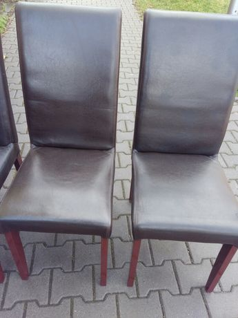 Trzy krzesła do jadalni lub na taras - cena dotyczy trzech sztuk.
