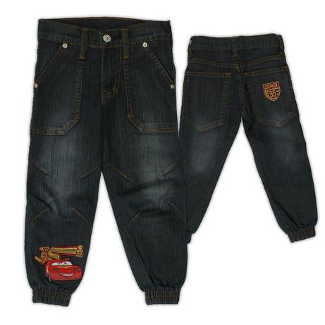 Spodnie jeans Auta Cars, rozmiary.