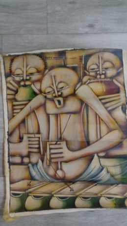 Quadros Africanos pintados à mão