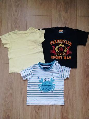 Koszulki z krótkim rękawem r. 74