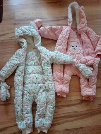 Kombinezon niemowlęcy różowy zimowy rozm 80 cm