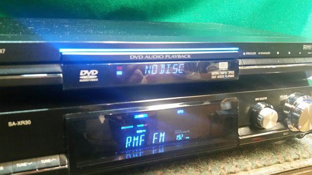 Amplituner Panasonic SA XR -30 i dvd S 47 zestaw.