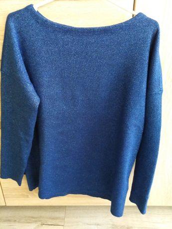 Sweter bluzka 38 błyszcząca dzianina Mohito