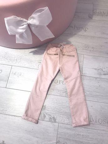 Nowe jeansy h&m 98 z zamkami rozowe