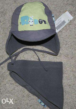 новый Комплект COCCODRILLO шапка и шарф треугольник мальчику