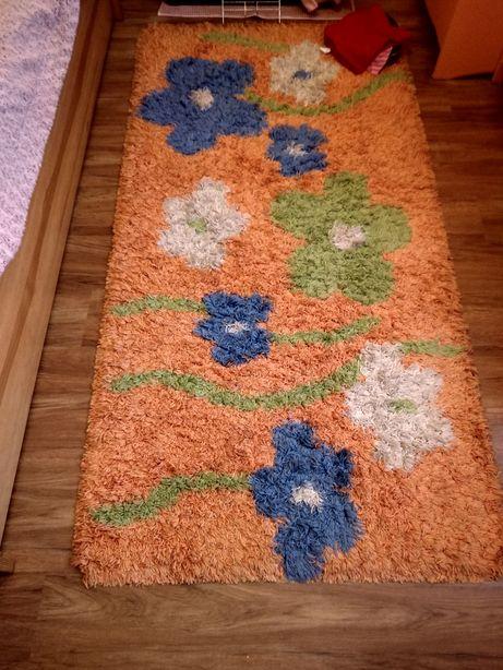 Dywan Shaggy kwiaty 100x200 cm