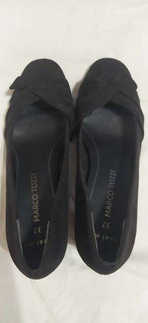 Туфли женские замшевые на маленьком каблучку