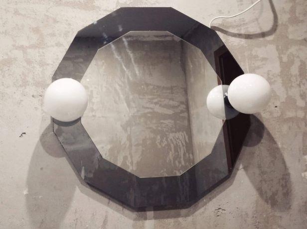 Lustro łazienkowe z lampami