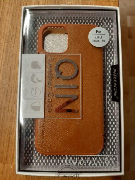 Nillkin Etui/Obudowa/Case Skórzane Qin iPhone 11 Pro - Nowe Brązowy