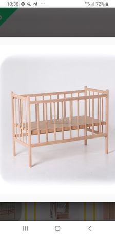 Детская кроватка, Ольха, Натуральная+ в комплекте ортопед. Матрас