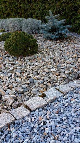 Kora kamienna grys kamień naturalny pasiasty szary brąz 3 tony dostawa
