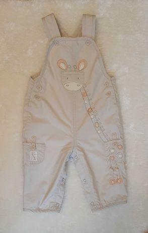 Ciepłe spodnie żyrafa 3-6 mies.