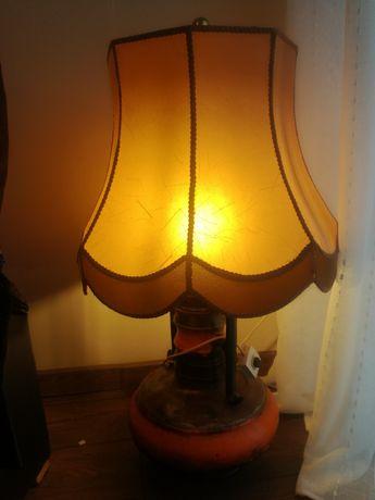 Stara lampa  z abażurem