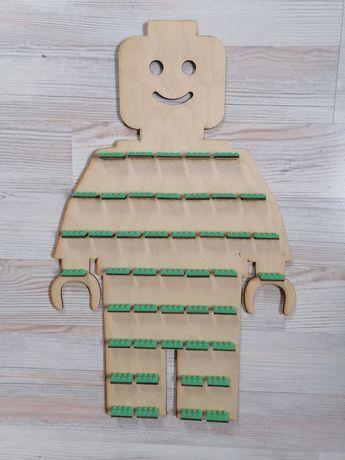 Lego na ludziki półeczki fluorescencyjne