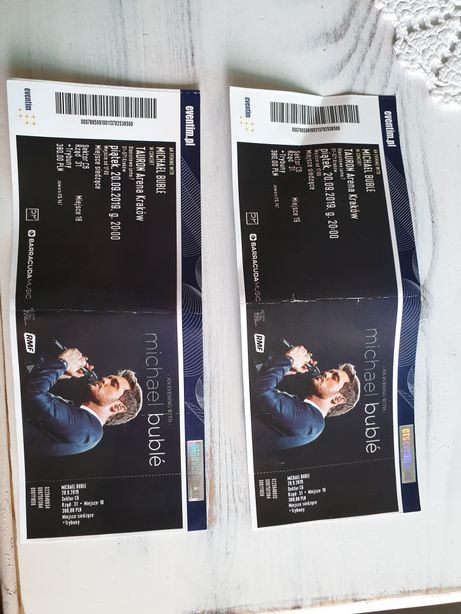 Michael Buble bilety 2 szt dla kolekcjonera
