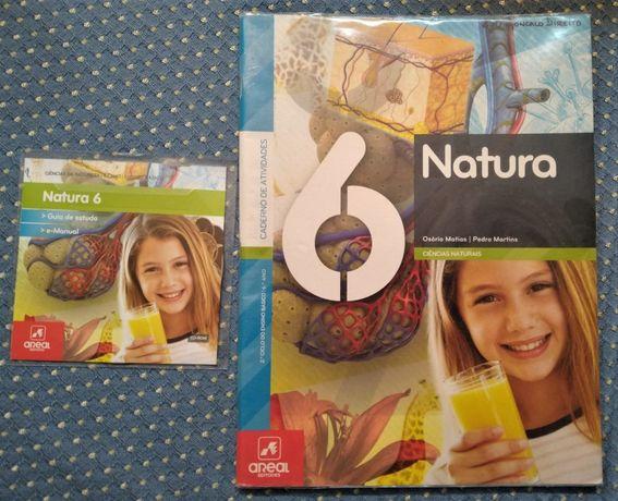 """""""Natura 6 Ciências da Natureza 6º Ano"""" Manual+Caderno Atividades+CDROM"""