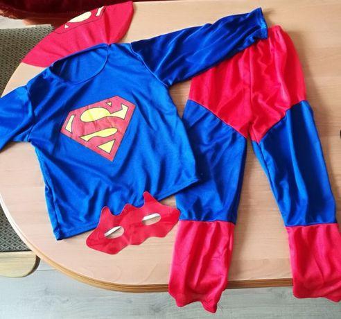 Strój karnawałowy Superman r 110-122, 4-7 l NOWY