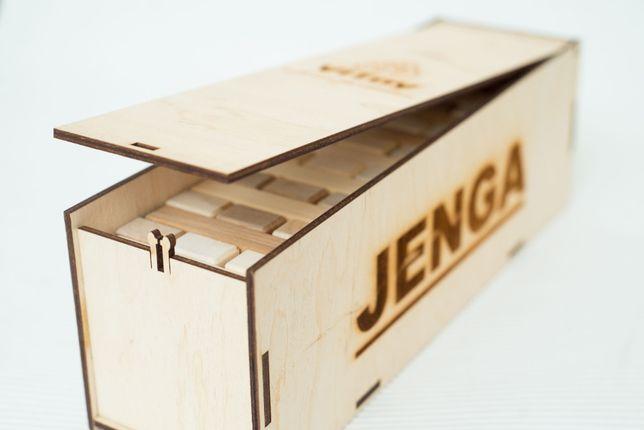 Гра ДЖЕНГА в оригінальній деревяній коробці. JENGA