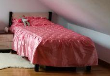 Narzuta na łóżko księżniczki, różowa