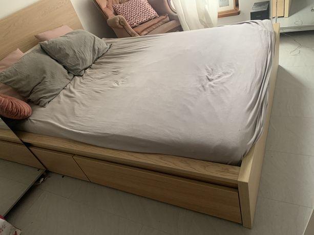 Łóżko MALM 140x200 z szufladami | Marerac gratis