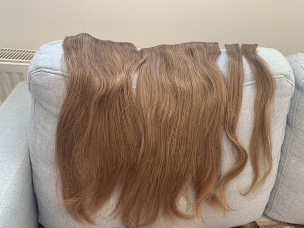 Волосы на заколках, трессы на заколках, натуральные волосы