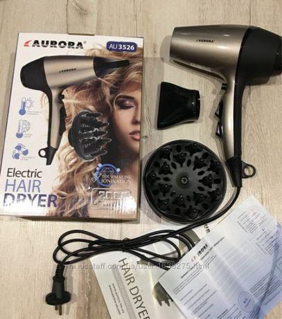 Фен-расческа для волос с насадкой (2.2 кВт) Аврора