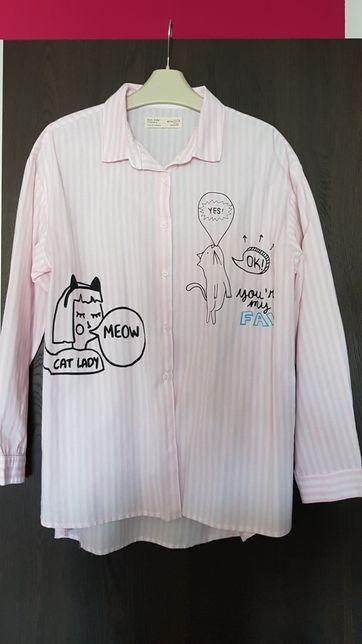 Koszula zara koty r.152 oversize