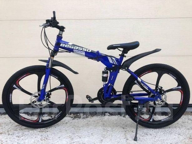 Складной велосипед 29'' колеса, 19 рама, двухподвес, на литых дисках