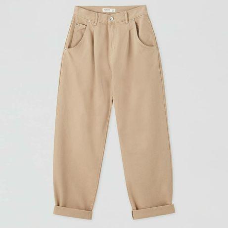 Бежевые брюки Pull&Bear