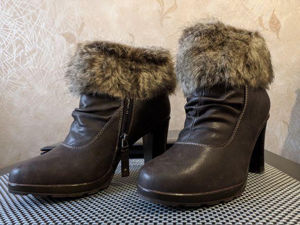 ботильоны зимние, сапоги женские, ботинки женские