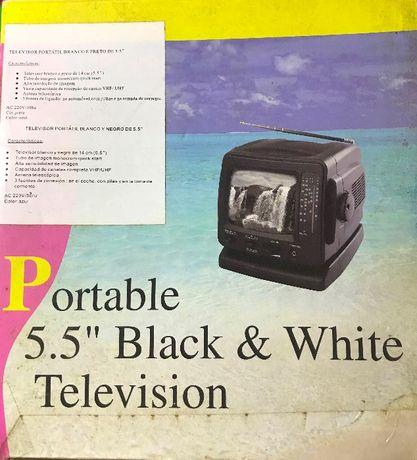 AUTENTICA RELIQUIA - Televisão portátil a Preto e Branco
