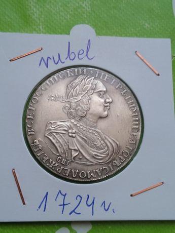 Moneta Rosja rubel 1724r