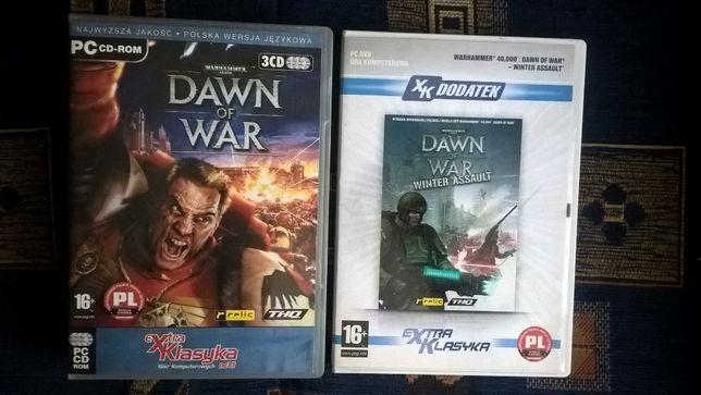Warhammer 40000 Dawn Of War plus dodatek Winter Assault Gry na PC PL