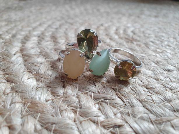 Zestaw pierścionków sztuczna biżuteria
