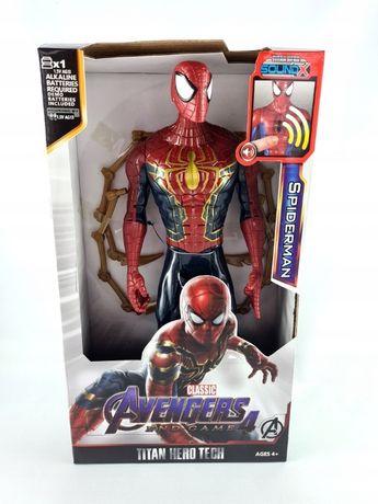 figurka spiderman ruchome elementy 30cm dźwięk avengers superbohater