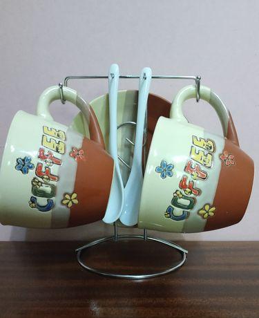 Кофейный сервиз на подставке