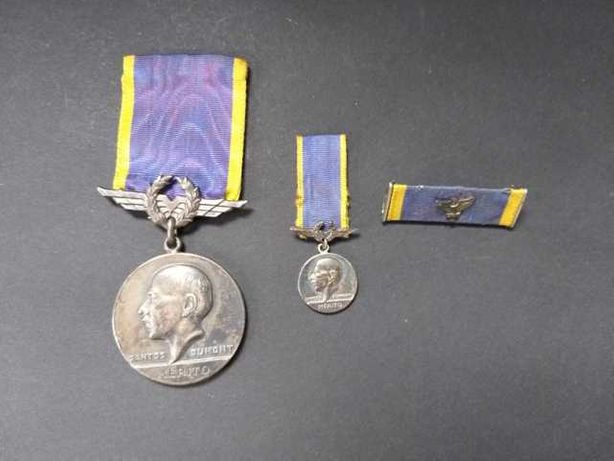 Conjunto medalhas de mérito Santos Dumont