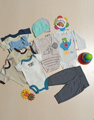 Набор для новорожденных боди,шапочки ,штанишки 50 56 carters disney