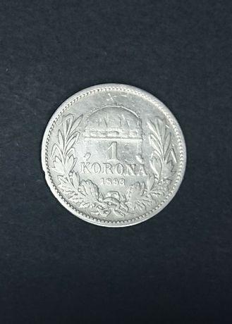 1 korona 1893 крона монета Срібло флорин гульден