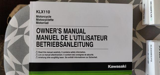 Instrukcja Kawasaki KLX 110 Z1000SX Z1000 ER6n ER6f Z750R VERSYS 650