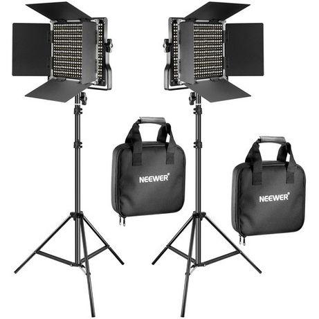 Kit 2X Painel led neewer 660 vídeo fotografia estúdio iluminação leds