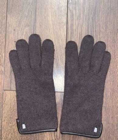 Теплые коричневые шерстяные перчатки S. ROECKL Оригинал.шерсть меринос