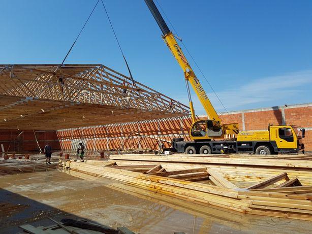 Więźba dachowa konstrukcje dachowe wiązary montaż wiązarów cała Polska