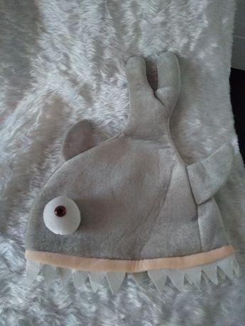 Карнавальная маскарадная шапка маска акулы