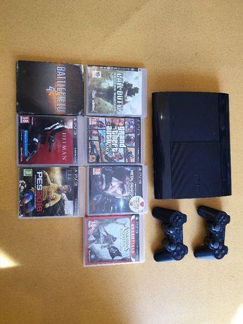 Playstation 3 PS3 500GB slim 2 pady 40 gier pudełkowych okazja !!!