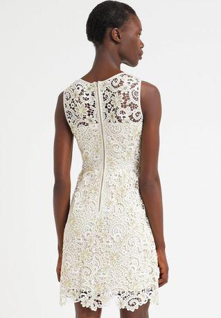 Elegancka sukienka koronkowa gipiura ślub cywilny ML