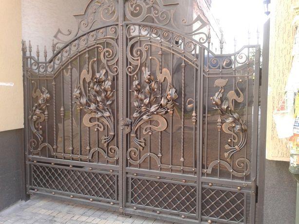 Виготовлення металовиробів. Ковані ворота, паркани, драбини.