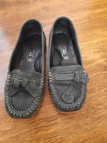 Гарні туфлі мокасіни Ірбіс з нубуку  31 розмір 19.5 см устілка